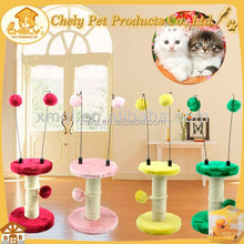 Cheap bright color and funny cat scratching board Pet Toys