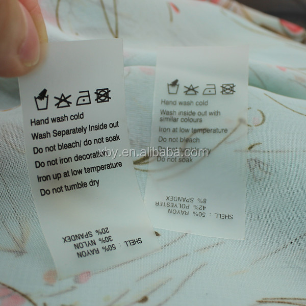 Made in China wholesale wash label printer/wash label roll