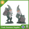 Sets of two green father christmas ornaments customized