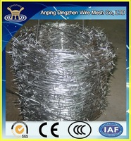 Discount!!!Professional production cheap barbed wire length per roll/factory price
