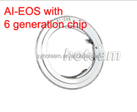 Camera Lens Adapter Mount For Nikon AI lens to Canon EOS Body With 6 generation AF Confirm Chip
