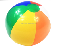 """Rainbow Color Beach Balls with 11"""" inflated"""