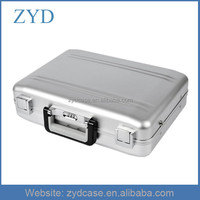 Silver Mini Pocket Portable Aluminum Locking Laptop Briefcase ZYD-HZMlc004