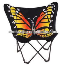 Folding metal frame butterfly chair
