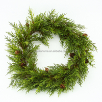 Wholesale high quality artificial work wreath wholesale