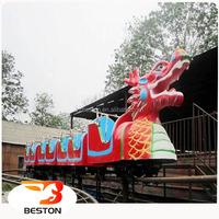 Mini roller coaster kids electric train rides sliding dragon outdoor amusement park rides for sale