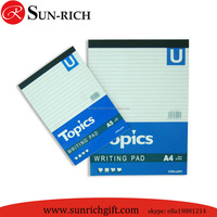 Paper Cover office / company writing pad promotion Usage notepad letter pad