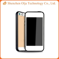 For Apple iphone 6 tpu frame phone case, for iphone 6 transparent pc hard back cover