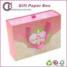 Sweet pink drawer paper gift box with thick cardboard