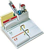 business desktop plastic calendar stand with card holder