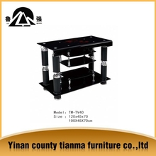 bent luxury design black painting multilayer glass modern tv stand