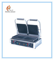 Best price hot sale Double plate electric pancake press grill griddle