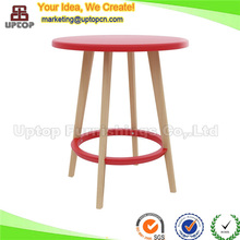 (SP-GT372) Restaurant bistro plastic top wood base round table for dining