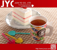 disposable paper cup with handle hot drink cup