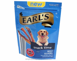 dog treat bag packaging, dog food bag, dog food pouch with zipper