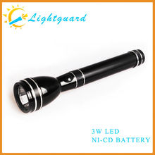 GWS-AM Factory supply high power rechargeable waterproof long range aluminum alloy Ni-cd Battery led torch light manufacturers