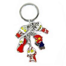 ultraman 5 color metal doll key chain decorative metal chain metal robot key chain