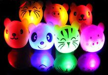 animal LED flashing finger ring silicon light up finger ring flashing light ring for kids children toys multi colours