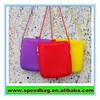 Bright color silicone bag Silicone messenger bag