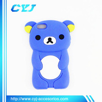 Rilakkuma bear silicone 3d cell phone case for iphone and samsung