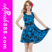 2015 New summer fashion wear beautiful casual dresses for teenagers