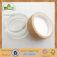 new product wood packaging cosmetic cream jar caps 66mm wooden cap for pet cream jar wooden lid