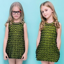 Fashion Sleeveless Short Party Vest Dresses for 8 Year Old Girls SV018480
