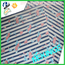 Popular 100 cotton blue and white stripe fabric