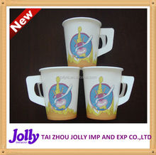disposable/coffee/hot paper cup/printed paper cup with handle