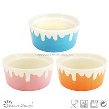 China manufacturer colorful stoneware ice cream bowl,ceramic ice cream cup