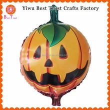 Venta al por mayor 18 pulgadas de calabaza alta calidad globos de papel de aluminio de Halloween decoración con globos