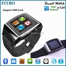 New Bluetooth MTK6260 SIM TF wrist watch mobile phone FTB12