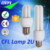 Energy Saving 5-18W CFL Lamp Compact Fluorescent 2U With Cheap Price