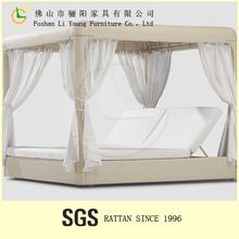 Bali style outdoor hotel round rattan outdoor bed outdoor swing outdoor garden sofa bed