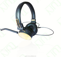 Durable headphones with microphone hot selling stereo headphones volume control for computer and DJ
