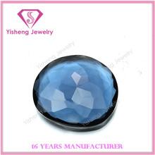 Fake dark blue jade glass diamond