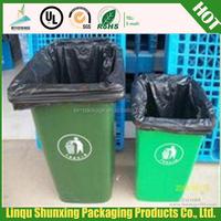 black plastic garbage bag/trash bag HDPE can liner