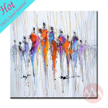 Modern bedroom decor abstract african women oil painting