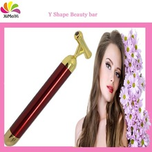 Fashion 24k golden vibrating beauty bar pen with black bladder