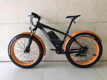 New Product Orange 26'' Aluminum Alloy Frame Electric Fat Bike