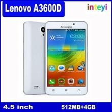 New Original Lenovo A3600D MTK6582 4G Mobile Phones IPS Andriod 4.4 512MB ROM+4GB RAM