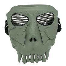 Paintball Accessories Plastic Skull Skeleton Airsoft Mesh Mask for Resisting bbs
