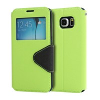 High quality PU mobile phone leather case for samsung galaxy s6