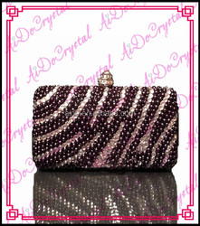 Aidocrystal Beautiful crafted handmade purple beaded ladies clutch bag and matching shoes for wedding party