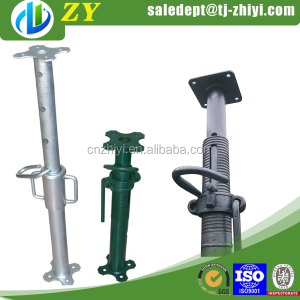 Adjustable Telescopic Prop : Light duty adjustable telescopic steel prop and shoring