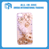Pumpkin and ballerina design rhinestone decoration cell phone cases