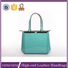 Hot 2015 Customized Logo Printed Geniune Leather Handbag