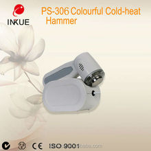 PS-306 Home Use Improve facial skin Cold Heat Hammer instrument /advanced firming electric colour hot and cold hammer with CE