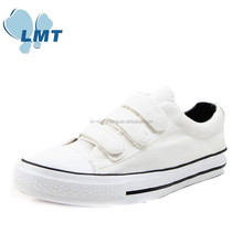 2015 new arrival solid colors buckle strap velcro china canvas shoes