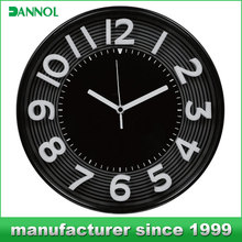 New products 2015 innovative product household 3D plastic frame wall clock wholesale